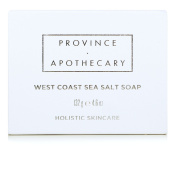 Province Apothecary West Coast Sea Salt Soap with Certified Organic Olive Oil, Saponified Coconut and Castor Oil and Sea Salt, 140ml
