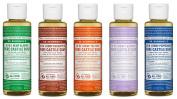 Dr. Bronner's 120ml Sampler- 5 Piece Gift Set. (5) 120ml Castile Liquid Soaps in Almond, Eucalyptus, Tea Tree, Lavender, and Peppermint