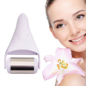 Olssda Ice Skin Roller, Skincool Massage with Stainless Steel Head and Plastic Handle for Face Body