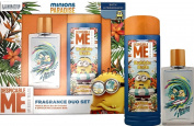 Minions Paradise 2 PC Set - Eau De Toillette 70ml SPRAY & Bubble Bath 250ml New in Box