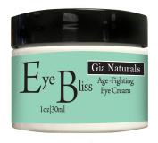 Pure, Natural and Organic EYE BLISS Eye Cream. Full 30ml Firms, Tones, Tightens, Corrects and Prevents Ageing. Made in USA. Cruelty Free