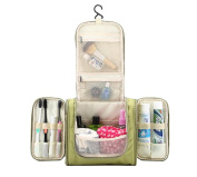 Fashionzone Toiletry Bag Makeup Cosmetic Bag Portable Travel Kit Organiser Household Storage Pack Bathroom Storage with Hanging for Business Vacation Travel