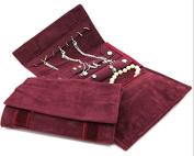 Lychee Large Size Women's Travel Jewellery organiser Case Roll Bag Organiser Necklace, Bracelet Earrings Ring management organiser ,Mother day ,Girls Gift idea.