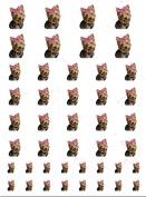 Yorkie Pink Bow Cute Dog Nail Art Decal Sticker Set
