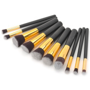 10-in-1 Professional Cosmetic Brushes Makeup Brushes Set for Face and Eyes Makeup