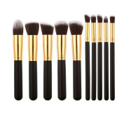 V-noah 10 Pcs Makeup Brushes Cosmetic Makeup Brush Set Premium Synthetic Bristles Foundation Blending Blush Eyeliner Face Powder Brush Makeup Brush Kit