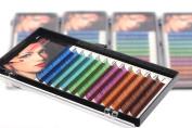 THINKSHOW Individual Mixed Colour Eyelash Extension Rainbow Eye Lash Extensions CD Curl 0.07 0.10 Thickness Eyelash 3 Trays