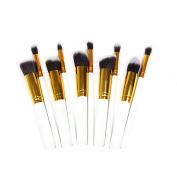 CAETLE10pcs Premium Synthetic Makeup Brush Set Cosmetics Foundation Blending Blush Eyeliner Face Powder Brush Makeup Brush Kit