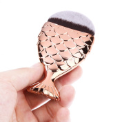 AABABUY 1PC Pro Fish scale Foundation Makeup Brush Mermaid Powder Face Brush Cosmetic Makeup Tool