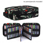 202 Coloured Pencils Pencil Case / 136 colour gel pens Pen Bag / Marker organiser - Universal Artist use Supply School Zippered Large Capacity slot Super Big Professional Storage qianshan leaf