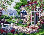 DIY Oil Painting for Adults Kids Paint By Number Kit Digital Oil Painting Dream home 41cm x 50cm