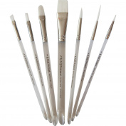 AQUAnaut Series 997 Expansion Set 7-Piece Paint Brushes Best for Watercolours, Acrylic and Oils, Short Bevel Handles …