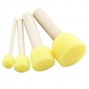 4 Pcs Sponge Painting Brushes Plastic Handle Kids DIY Painting Tools Drawing Toys