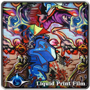 Hydrographic Film - Water Transfer Printing - Hydro Dipping LL-505 Graffiti - 1 Metre