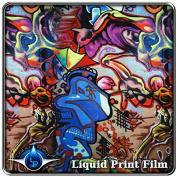Hydrographic Film - Water Transfer Printing - Hydro Dipping LL-505 Graffiti - 1 Metre