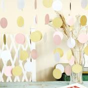 Paper Circle Garland Dots Hanging Decor, Circle Event & Party Supplies,5.1cm high,3m