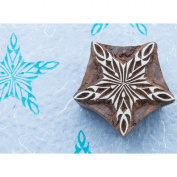 Blockwallah Block Stamp-Shiny Snowflake