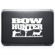 Bow Hunter Hunting Deer REMOVABLE Vinyl Decal Sticker For Laptop Tablet Helmet Windows Wall Decor Car Truck Motorcycle - Size (05 Inch / 13 Cm Wide) - Colour