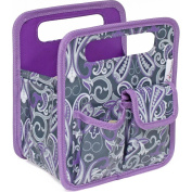 Everything Mary Desktop Tote, Purple Paisley