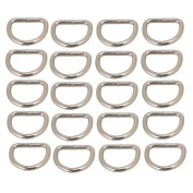 20pcs 25mm Multifunctional Silvery Metal D Ring D Shaped Belt Buckle For Bags Purses Backpack Straps