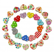 Sewing Scrapbooking DIY Fabal Wood Buttons Sewing Scrapbooking Flowers Shaped 2 Holes Mixed