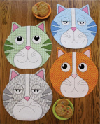 Susie C Shore Designs Kippers Whimsical Kitty Placemats Pattern