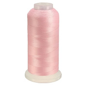 KINGSO Polyester Bright Glow Embroidery Machine Thread for Sewing and Embroidery Machine 3000 Yards 150D/2 Each Pink
