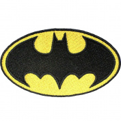 InspireMe Family Owned DC Comics Batman Logo Embroidered Sew/Iron-on Patch/Applique 7.6cm x 7.6cm