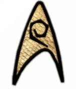 InspireMe Family Owned Star Trek Collector's Science Division Badge Embroidered Sew/Iron-on Patch/Applique 7.6cm x 5.1cm