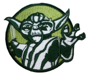 InspireMe Family Owned Star Wars Yoda Round Embroidered Sew/Iron-on Patches 7.6cm