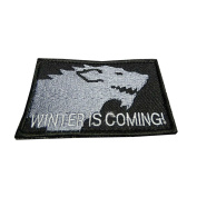 InspireMe Family Owned Game Of Thrones Winter Is Coming Embroidered Sew/Iron-on Patch 5.1cm x 7.6cm