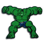 InspireMe Family Owned Marvel Comics Avengers Hulk Flexing Embroidered Patch (Can Be Ironed Or Sewn On) 9.5cm x 7.6cm