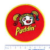"Cute Harley Quinn ""Puddin"" Girl Shirt Patch 8cm - Cool Patches - Iron On - Funny - Parody"