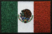 Mexico Flag Subdued with Black Border Patch (7.6cm X 5.1cm ) $3.95 with FREE FREIGHT from San Diego Leather