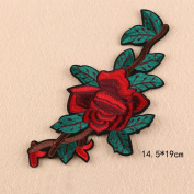 SMQ 1PC Rose Flower Flamingo DIY Clothing Patches Big Iron Applique Embroidered For T-Shirt Fabric Sewing Accessories 4