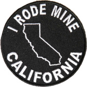 I Rode Mine To California Patch (7.6cm X 7.6cm ) $3.95 with FREE FREIGHT from San Diego Leather