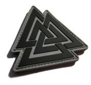 The Viking Odin Symbol Valknut Unicursal Design 7.6cm x 7.6cm Ancient Valhalla PVC Morale Patch