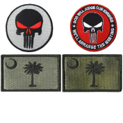 Embroidery SOUTH CAROLINA State Flag and Punisher Tactical patches