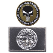 Embroidery NEBRASKA State Flag and Punisher Tactical patches