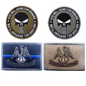 Embroidery USA LOUISIANA State Flag and Punisher Tactical patches