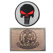 Embroidery USA IDAHO State Flag and Punisher Tactical patches