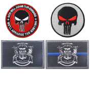 Embroidery USA MICHIGAN State Flag and Punisher Tactical patches