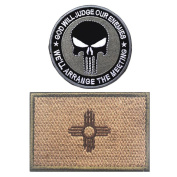 Embroidery USA NEW MEXICO State Flag and Punisher Tactical patches