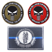 Embroidery USA KENTUCKY State Flag and Punisher Tactical patches