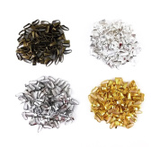 yueton 400pcs Mixed Colour Snap Bail Hook Chain Connector Pendant Charms Clasps