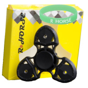 R . HORSE Fidget Hand Spinner Toy - High Performance Bearing For Extremely Fast And Long Spin Time ¡§C Ideal For ADHD, Anxiety (Fluorescent Wristband INCLUDED)