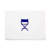 Directors Chair Film Furniture Movie Style 9300, Rubber Stamp Shape great for Scrapbooking, Crafts, Card Making, Ink Stamping Crafts