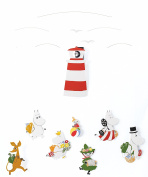 Moomin Version II Hanging Nursery Mobile - 60cm Cardboard - Handmade in Denmark by Flensted