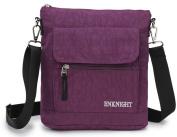 ENKNIGHT Nylon Crossbody Purse Bag for Women Travel Shoulder handbags Purple