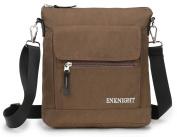 ENKNIGHT Nylon Crossbody Purse Bag for Women Travel Shoulder handbags Coffee